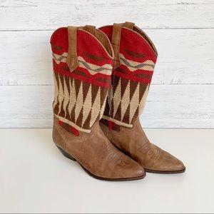 Seychelles Southwest Fabric & Leather Cowboy Boots